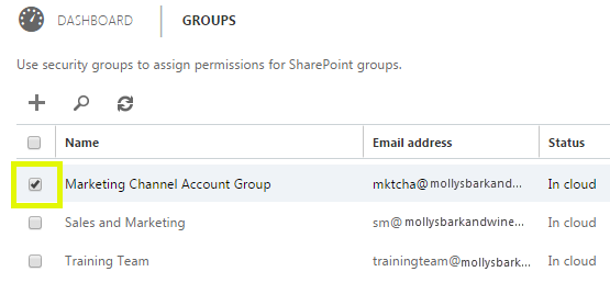 Click the group you want to add delegates to